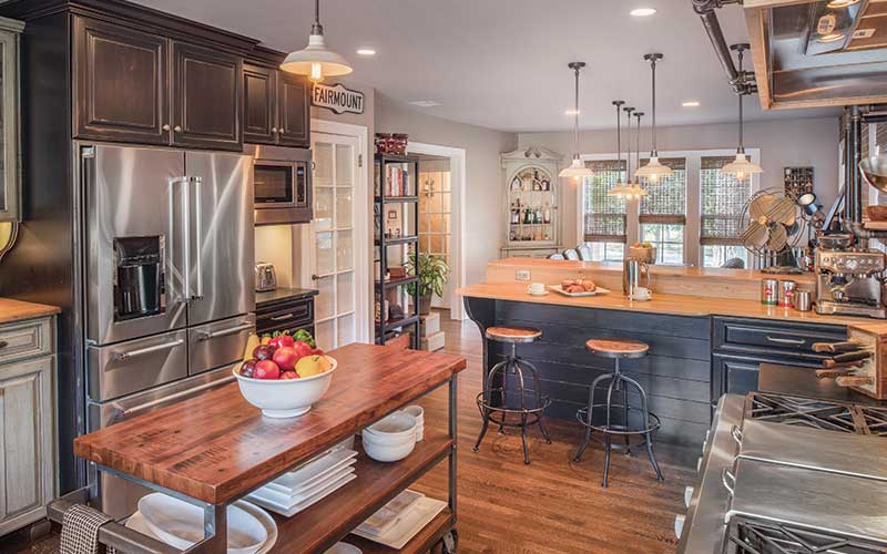 Remodeled kitchen in Onaway area home