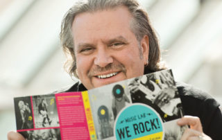 Jason Hanley, author of We Rock! A Fun Family Guide for Exploring Rock Music History