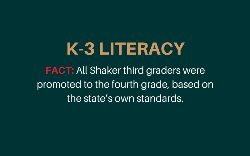 Literacy statement from Shaker Schools