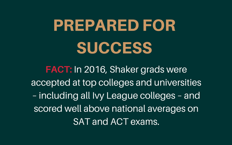 Success statement from Shaker Schools