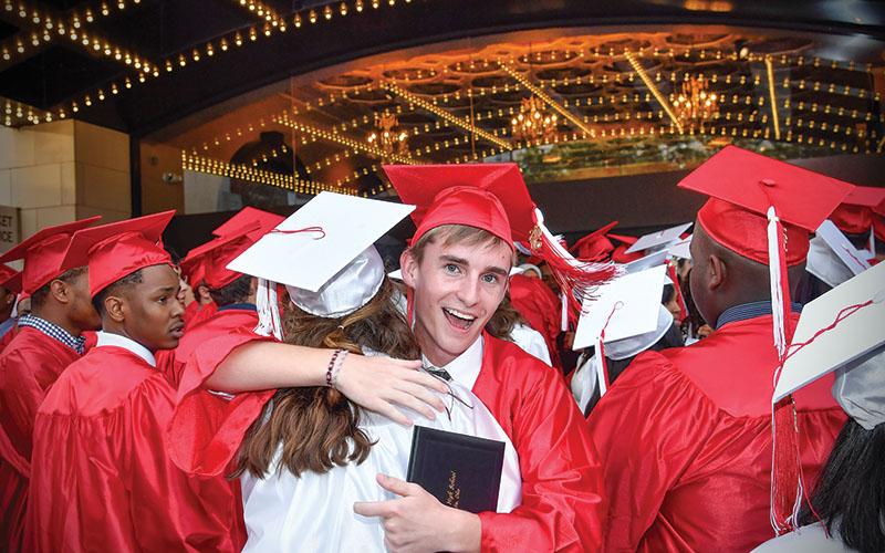 Shaker High students at graduation