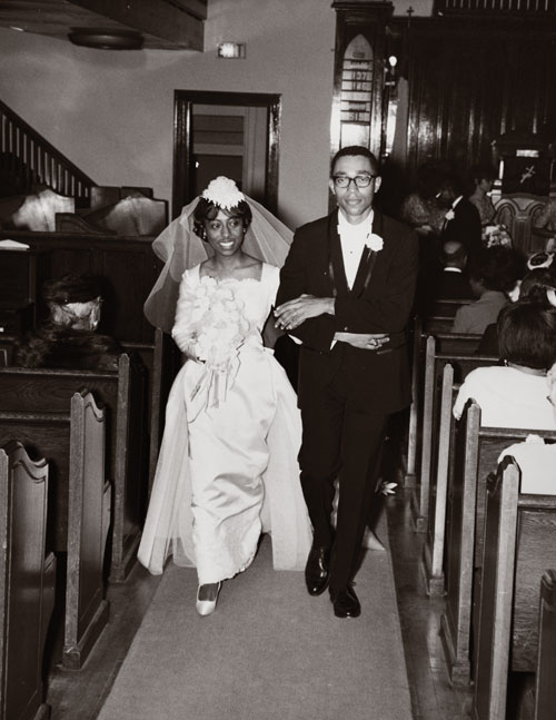 Leon and Marguerite Bibb at their wedding