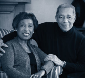 Marguerite and Leon Bibb in their Shaker Heights home