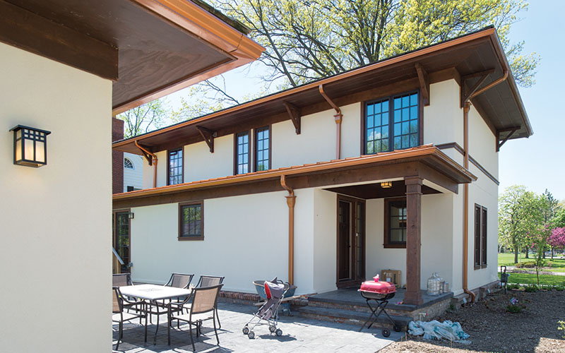 A sustainably-built Shaker Heights home was designed by architect William Doty.