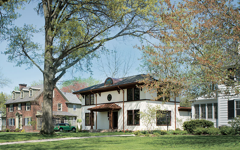 A green-built, Mission-style home in Shaker Heights, Ohio