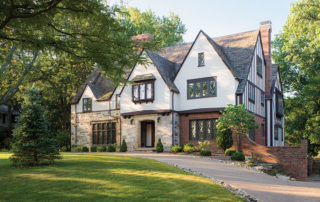 Exterior of green-renovated Shaker Heights home