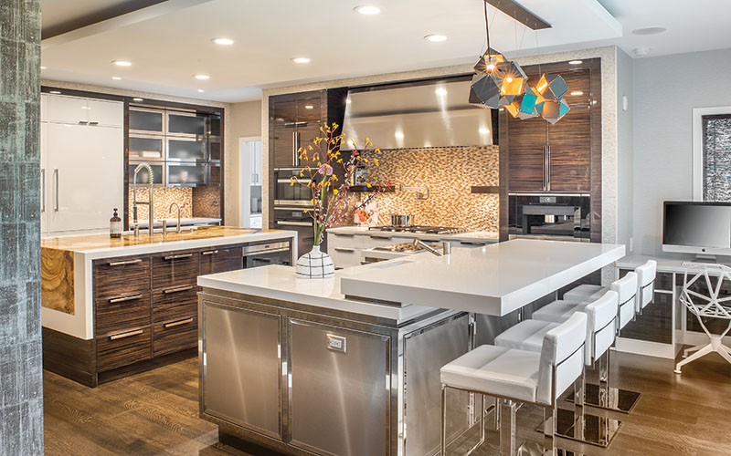 A contemporary kitchen in Shaker Heights, Ohio