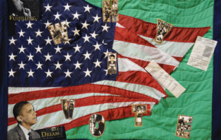 Quilt by Regina Abernathy celebrating Pres. Barack Obama's election victory