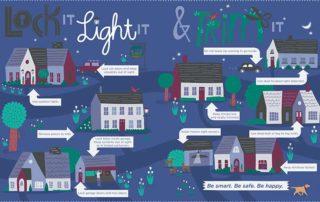 Lock It, Light It & Trim It illustration
