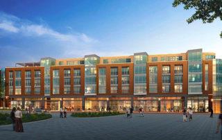 Artist rendering of the Van Aken District apartment building