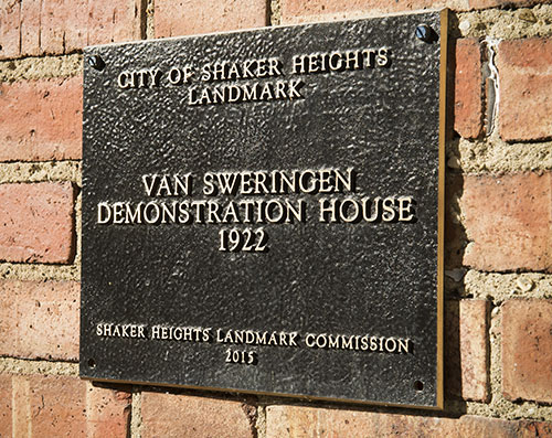 Plaque from the Shaker Heights Landmark Commission
