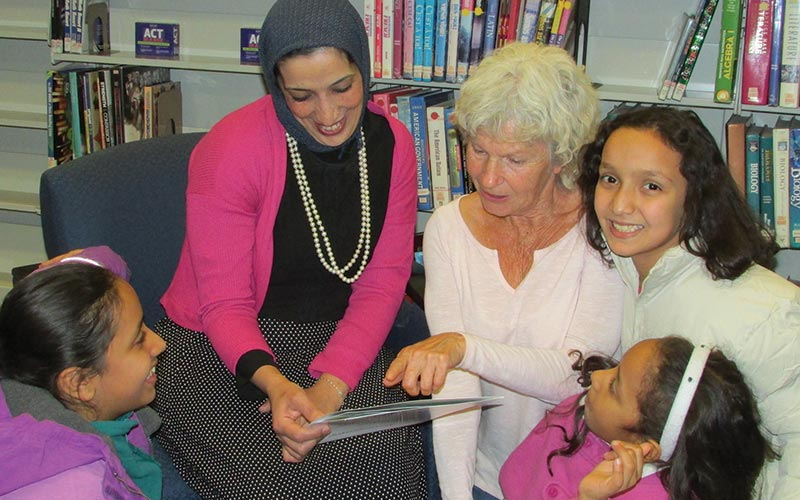 ESL students at Shaker Heights Public Library