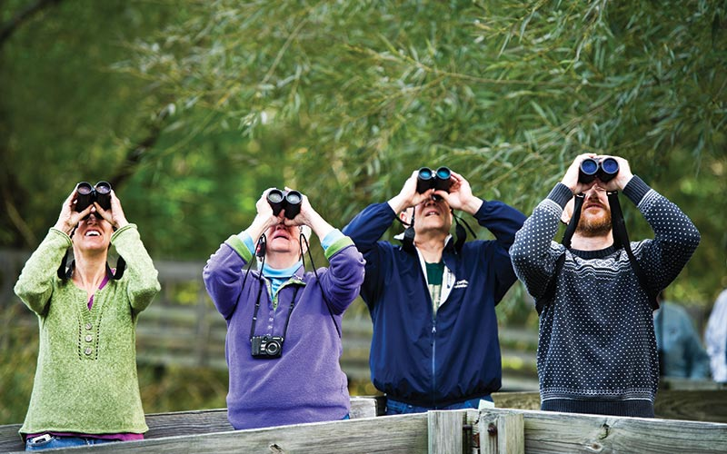 Birders at the Nature Center at Shaker Lakes