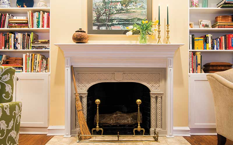 Fernway duplex fireplace.