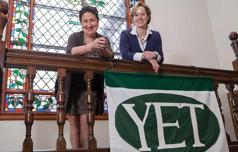 Head of School Ann V. Klotz, and Lisa Damour, director of Laurel School's Center for Research on Girls.