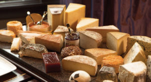 A cheese board at Edwins Restaurant in Shaker Square