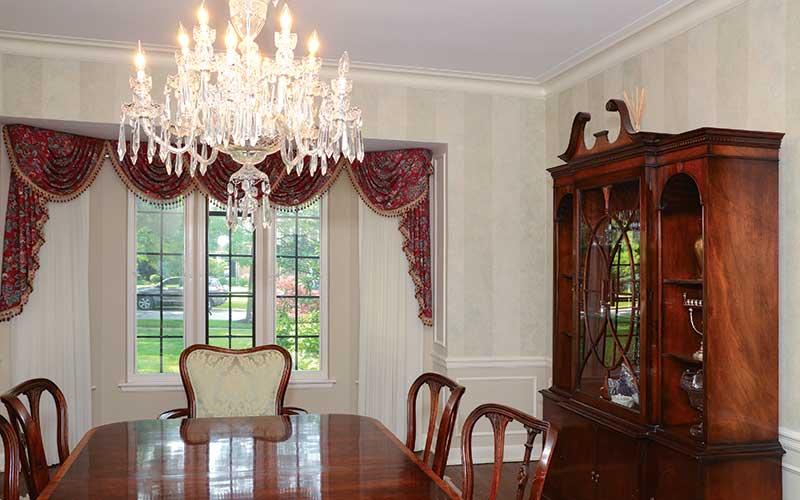 Dining room after the restoration