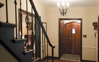 Restored front hall of 1920s era Shaker home