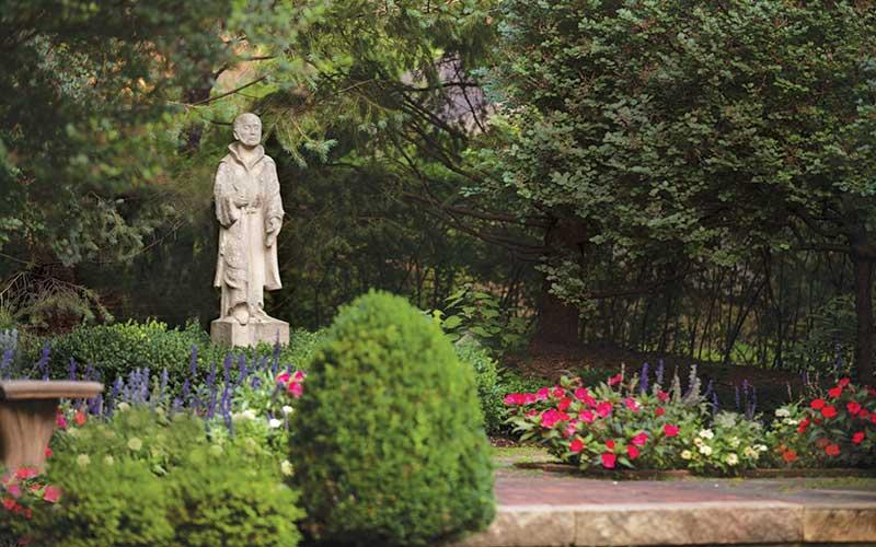Sculpture of St. Ignatius Loyola by Norbert Koehn