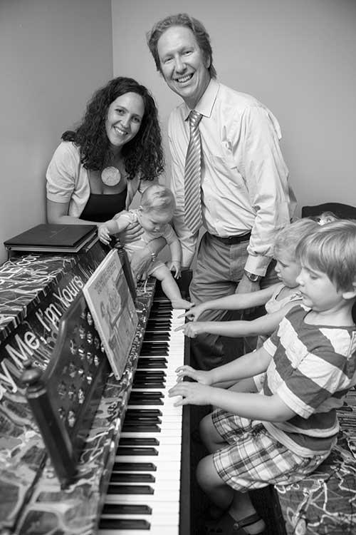 Pierre van der Westhuizen and family