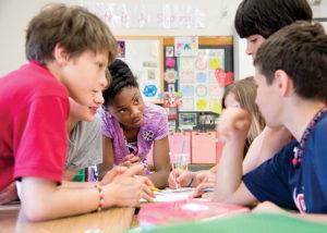 Students at Shaker's Woodbury School.
