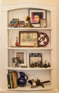 Bookcase with vintage items