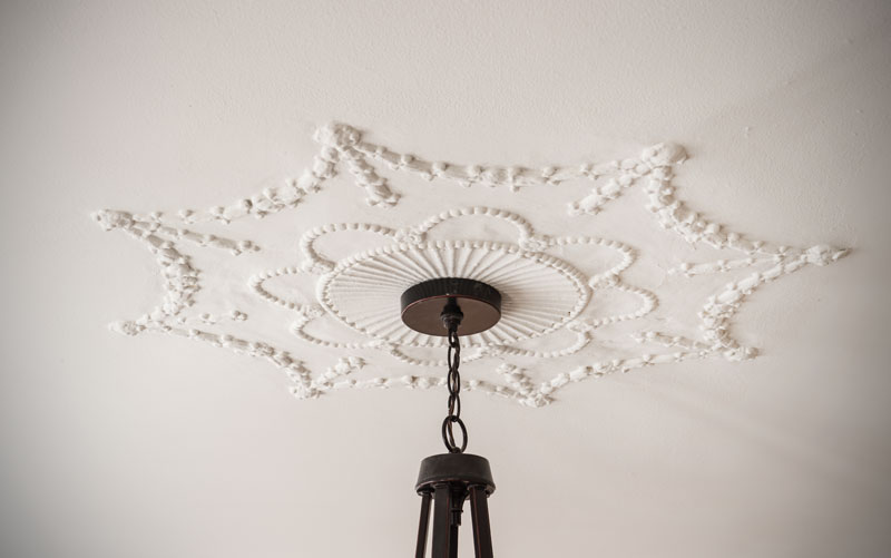 Chandelier detail in Shaker Heights, Ohio home