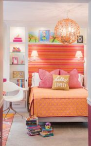 Child's orange bedroom