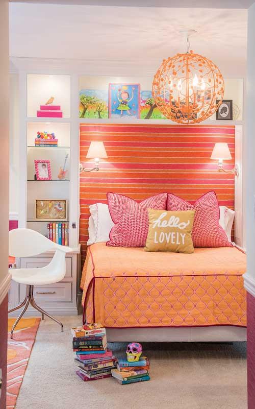 Orange girls bedroom