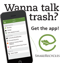 Promotion for ShakeRecycles app