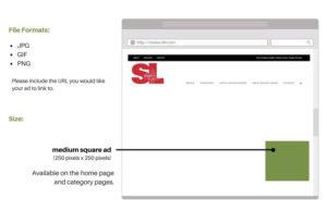 Online advertising specs for shaker.life