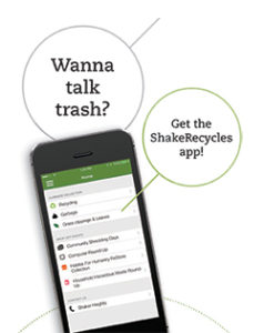 Promo for the ShakeRecycles app