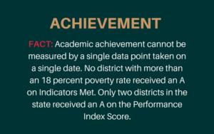 Achievement statement from Shaker Schools
