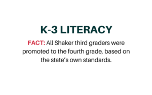 Literacy statement from Shaker Schools