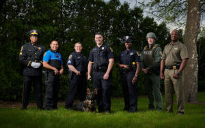 Members of the Shaker Heights Police Department