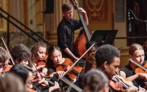 Shaker High orchestra students