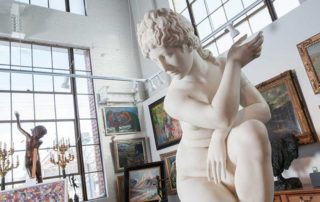 Aphrodite statue in WOLFS Gallery