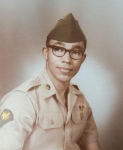Leon Bibb in army