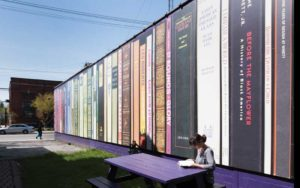Book mural in the Larchmere district of Shaker Heights