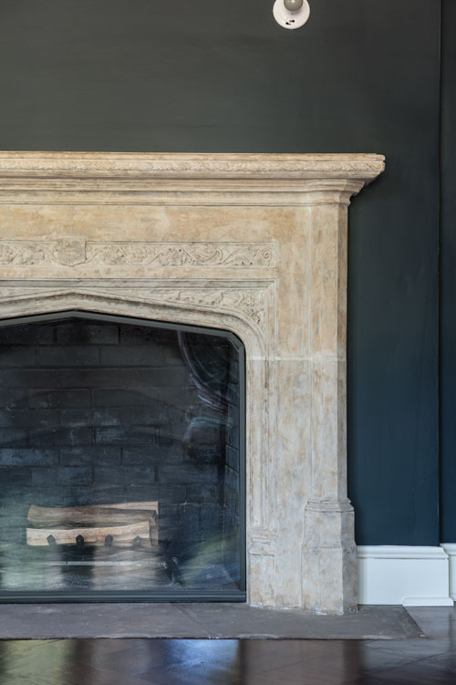 Fireplace detail in Shaker Heights home