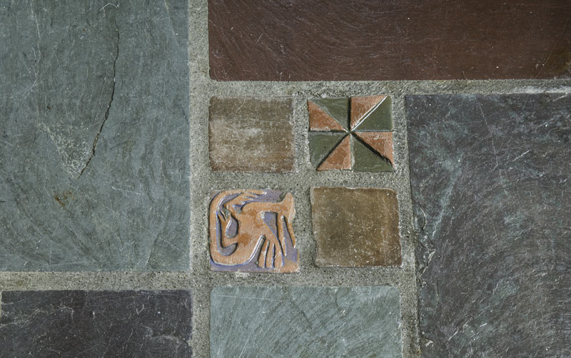 Tile detail in Shaker Heights home