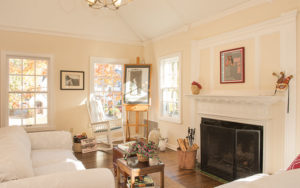Living room of Shaker Heights two-family home