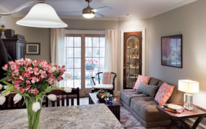 The Greene's turned the original dining room into a family room.