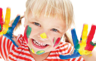 Child with fingerpaint