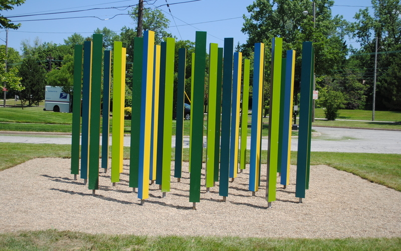 Colorfield, an outdoor installation in Shaker Heights by Mark Reigelman II