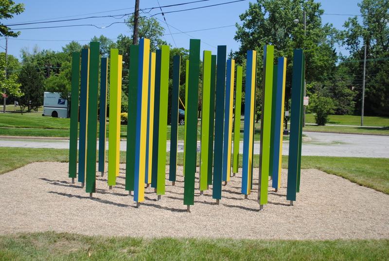 Colorfield, an outdoor installation in Shaker Heights by Mark Reigelman II