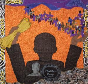 Quilt honoring Nelson Mandela by Gloria Kellon