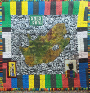 Quilt by Jakki Dukes was featured in the Mandela exhibit in South Africa.
