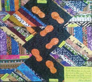 Quilt honoring Nelson Mandela by Regina Abernathy