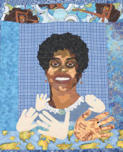 Quilt titled My World by Jakki Dukes